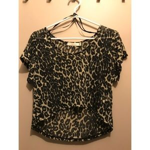 Mink Pink Leopard Crop Top